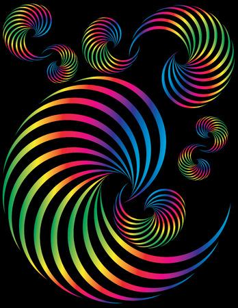 Spectrum Spirals Stock Vector - 5363556