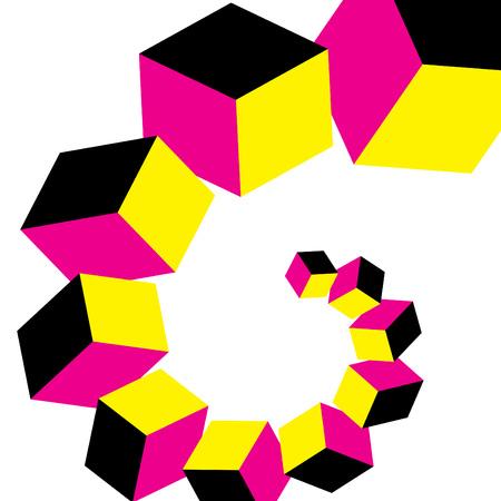 Cubic Curl Фото со стока - 5452104