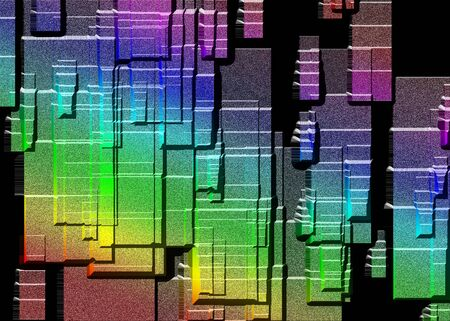 pitted: Concrete Rainbow Stock Photo