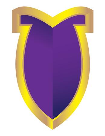 Royal Purple Shield Stock Vector - 5543705