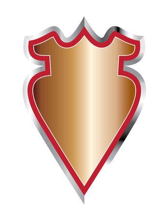 rimmed: Silver-rimmed Shield Illustration