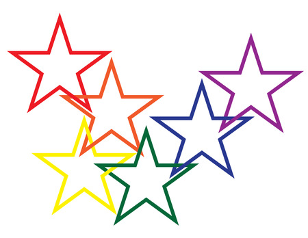 Linked Stars Vector