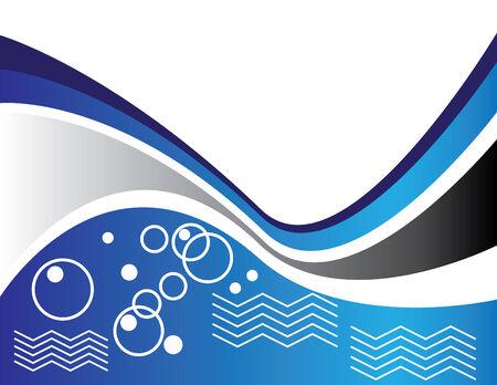 Blue Water Wave Stock Vector - 5584734