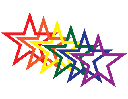 gay: Rainbow Stars