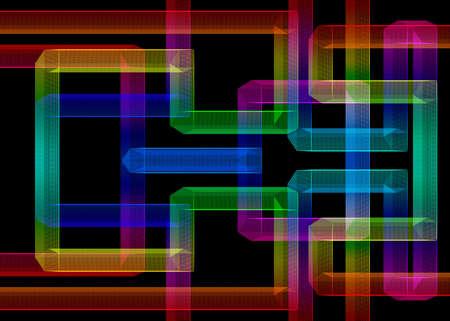 Wireframe Maze