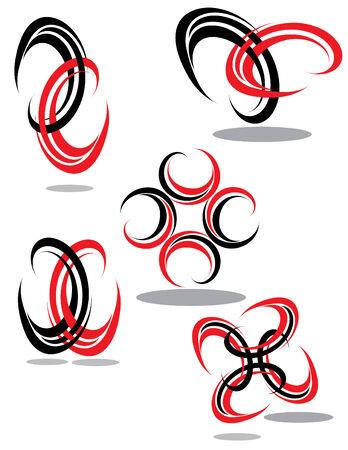 빨간색과 검은 색 디자인 요소 스톡 콘텐츠 - 5722101
