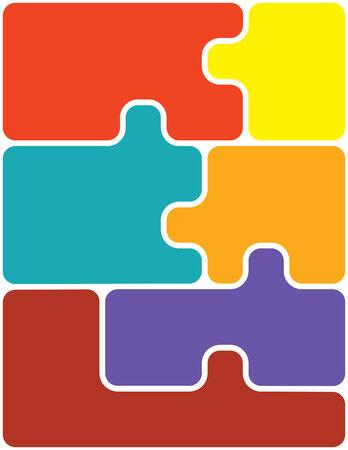 Puzzling 向量圖像
