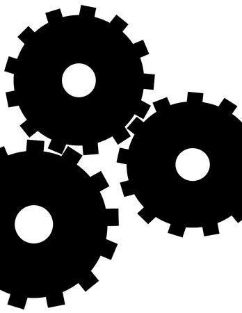 抽象的な歯車  イラスト・ベクター素材