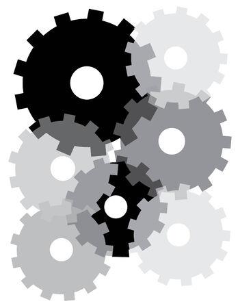 Shifting Gears Vector