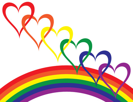 quot: Rainbow Love Illustration