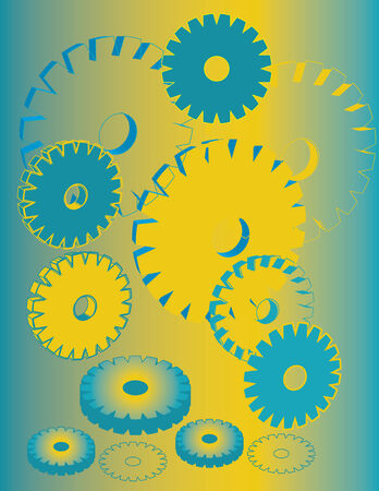 Gears Abstract Illustration