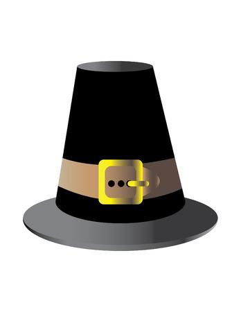 巡礼者の帽子  イラスト・ベクター素材