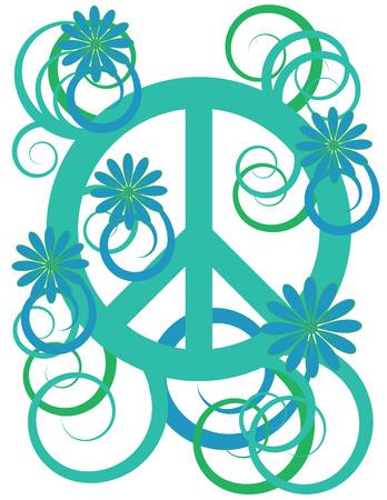 Flower Power Peace Sign Vector