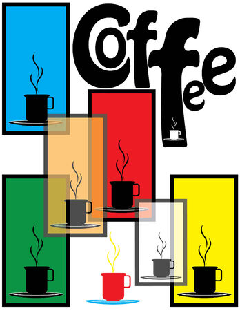 커피 숍 포스터 일러스트
