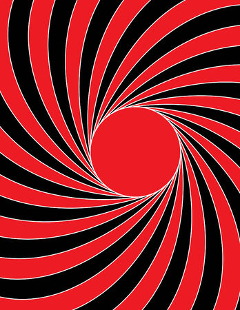 swirl: Red Sun Swirl Illustration
