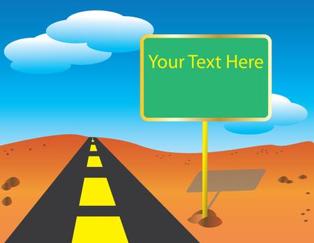 Road Sign Ilustrace