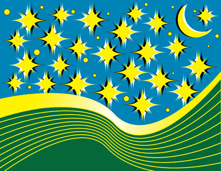 Starry Night Stock Vector - 6863408
