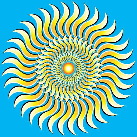 rotating: Rotating Sun Illustration