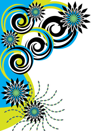decoration: In the Turquoise Garden Illustration