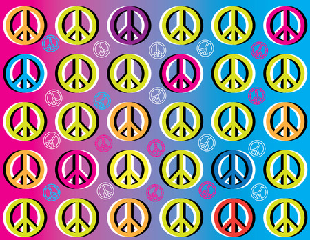 peace and love: Peace Movement Illustration