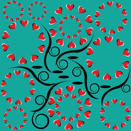 Rotating Hearts Vector