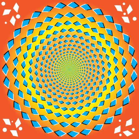 Permanente rotatie (optische illusie)  Vector Illustratie