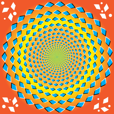 symmetry: Perpetual Rotation (optical illusion)