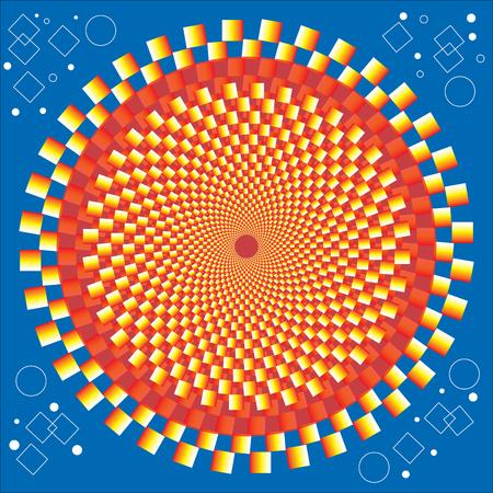 arte optico: Círculo Dorado (movimiento Illusion)