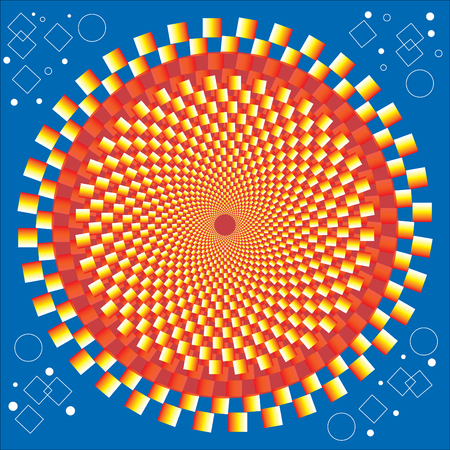 Golden Circle  (motion Illusion) Vector