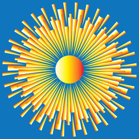 abstract art: Art Deco Sunburst