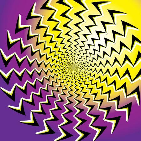 Emanation (motion illusion) Stock Vector - 7415234