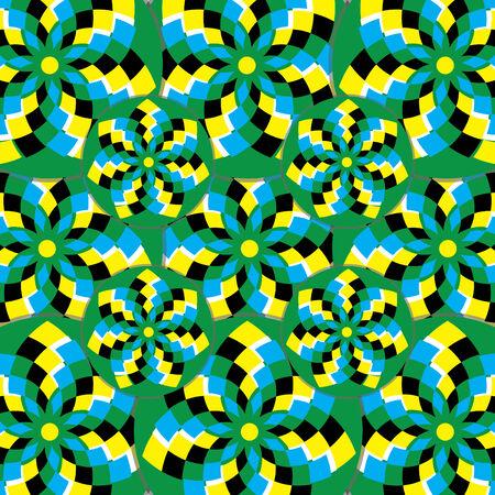 revoltijo: Selva flor soplador (ilusi�n de movimiento)  Vectores