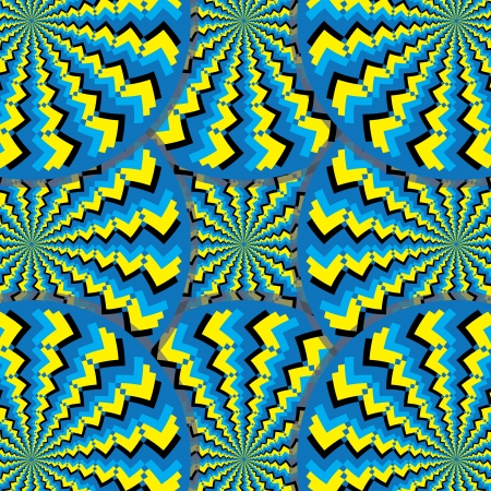 optical illusion: Tribal Spin Mania (motion illusion) Illustration