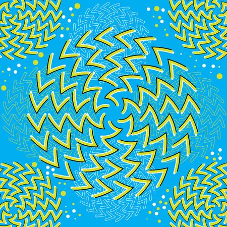 Spin Art (motion illusion)