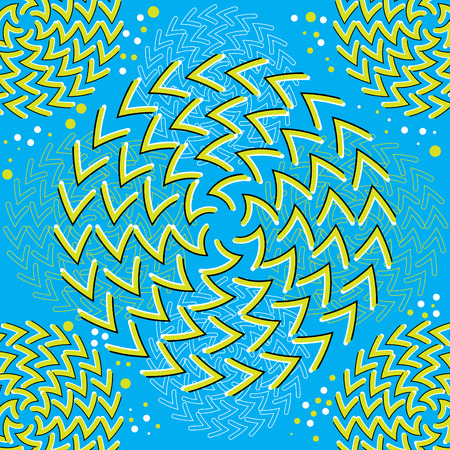 abstract art: Spin Art (motion illusion)