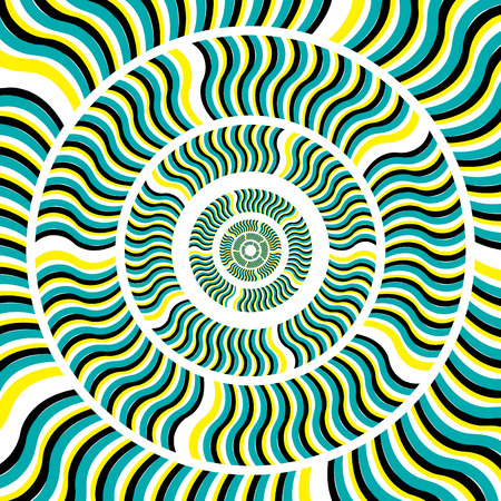Go for a Spin!  (motion illusion) Vector