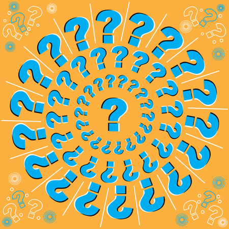 optical illusion: Whirling Questions (motion illusion)