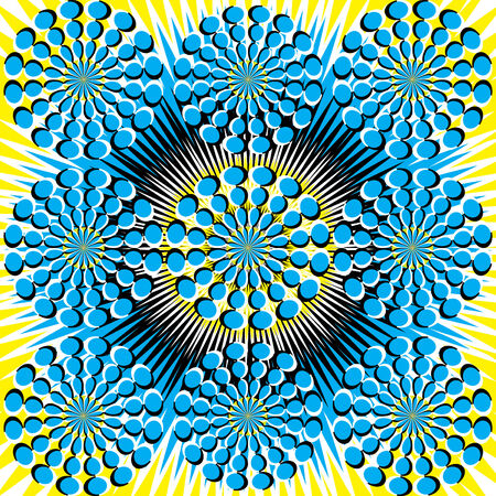 Spin Flower Fantasy (motion illusion) Ilustrace
