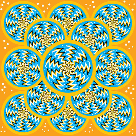 spin: Zigzag Spin Disks   (motion illusion)