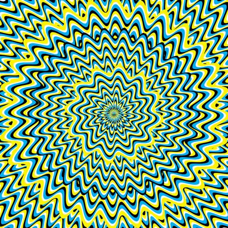 Hypnose (motion illusie) Stock Illustratie