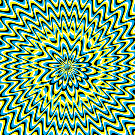 vertigo: Vertigo Flower  (motion illusion) Illustration
