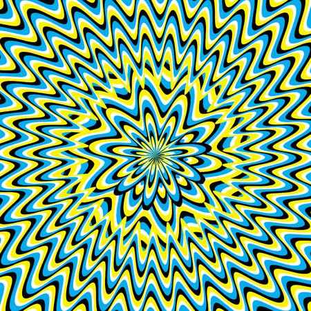 Vertigo Flower  (motion illusion) Ilustrace