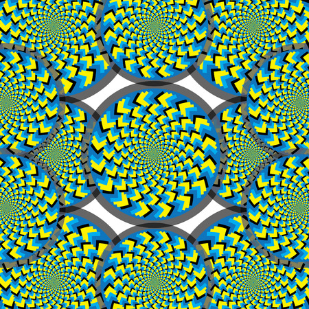Spiral Spin Wheels  (motion illusion) Vector