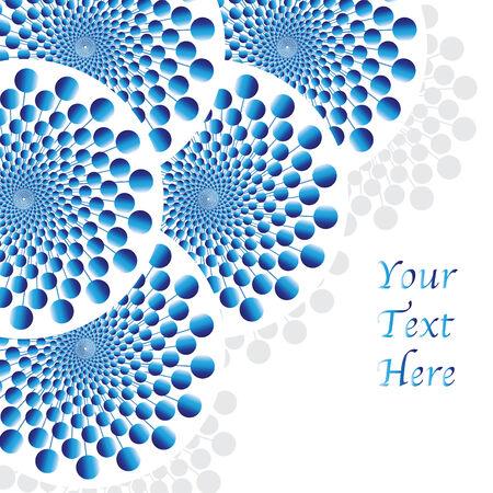 Blue Balls Spinners   (motion illusion) Ilustração