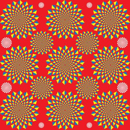 commotion: Motion Commotion  (motion illusion) Illustration