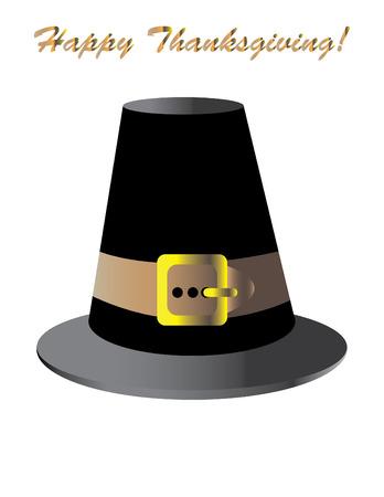 pilgrim hat: Happy Thanksgiving!