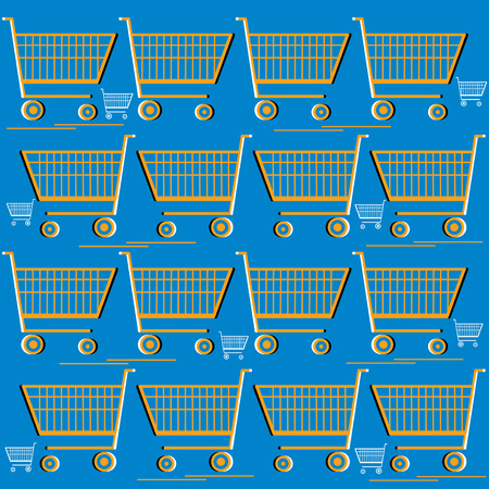 Supermarket Mania  (motion illusion) Vector