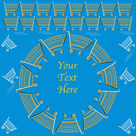 Supermarket Merry-go-round  (motion illusion) Vector
