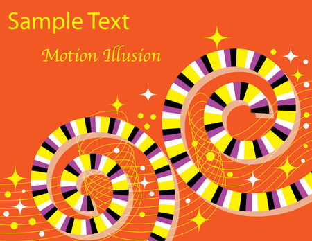 Twin Spin Spirals  (motion illusion)