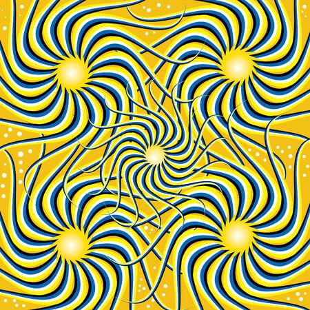 Twirlees  (motion illusion) Stock Vector - 8080040